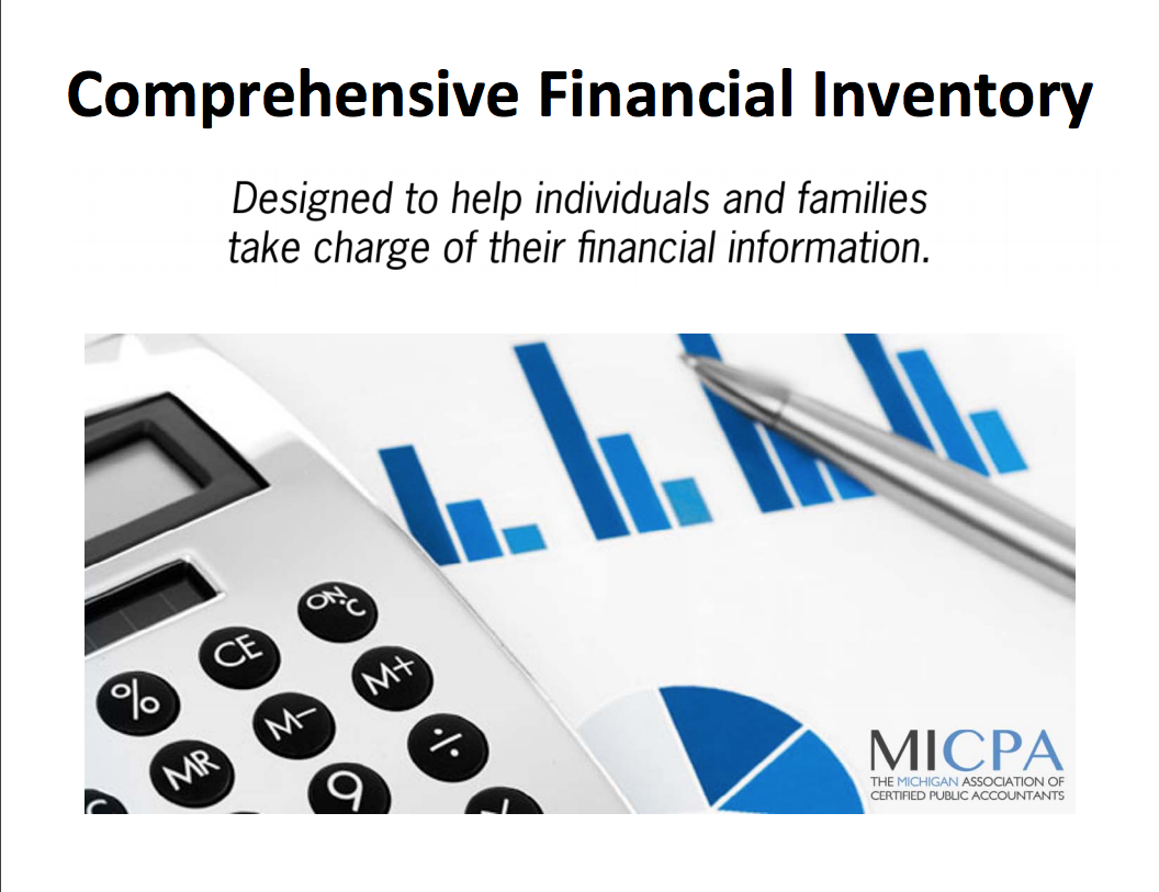 Financial Inventory Work Book